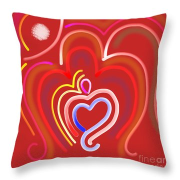 Abstract Om-8 Throw Pillow