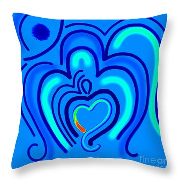 Abstract Om-9 Throw Pillow