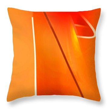 Abstract Orange Throw Pillow by John Krakora