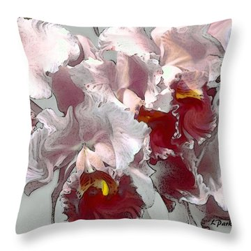 Abstract Orchid Throw Pillow by Linda  Parker