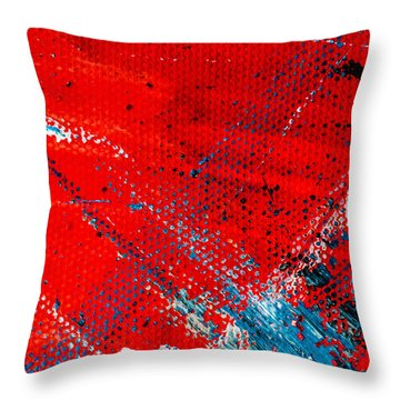 Abstract Original Artwork One Hundred Phoenixes Untitled Number Five Throw Pillow