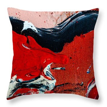 Abstract Original Artwork One Hundred Phoenixes Untitled Number Four Throw Pillow