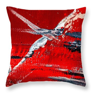 Abstract Original Artwork One Hundred Phoenixes Untitled Number Seven Throw Pillow