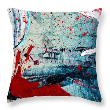 Abstract Original Artwork One Hundred Phoenixes Untitled Number Six Throw Pillow