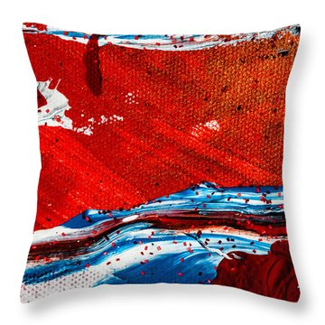 Abstract Original Artwork One Hundred Phoenixes Untitled Number Three Throw Pillow