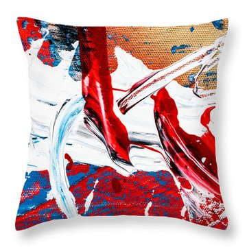 Abstract Original Artwork One Hundred Phoenixes Untitled Number Two Throw Pillow