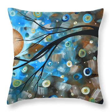 Abstract Original Landscape Art In A Trance Art By Madart Throw Pillow by Megan Duncanson