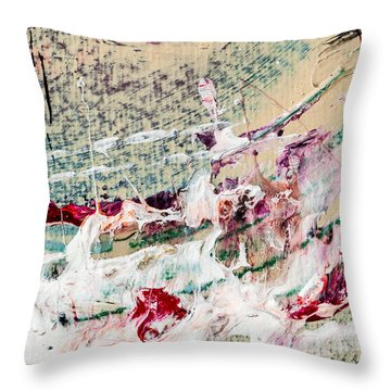 Abstract Original Painting Number Eight Throw Pillow