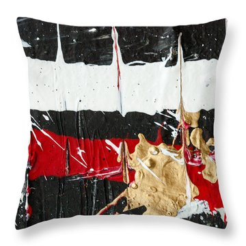 Abstract Original Painting Number Five Throw Pillow