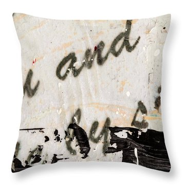 Abstract Original Painting Number Six Throw Pillow