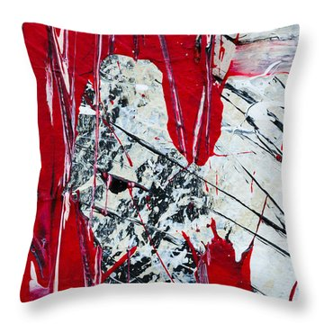 Abstract Original Painting Untitled Nine Throw Pillow