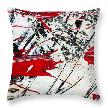 Abstract Original Painting Untitled Ten Throw Pillow