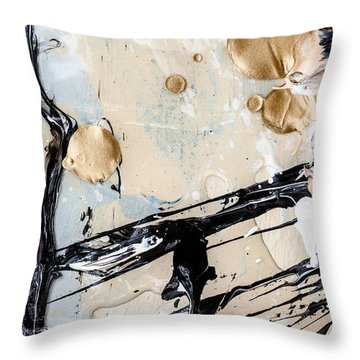 Abstract Original Painting Untitled Twelve Throw Pillow