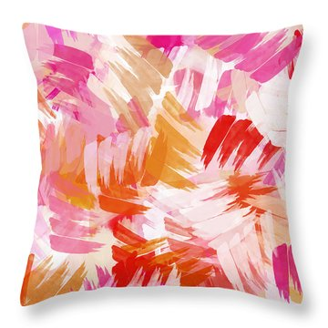 Abstract Paint Pattern Throw Pillow by Christina Rollo