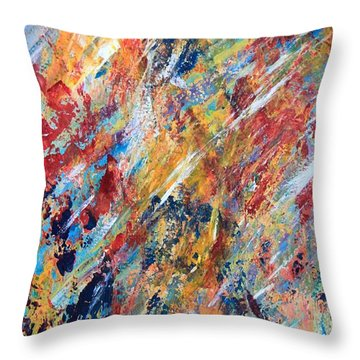 Abstract Painting Throw Pillow by AR Annahita