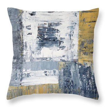 Abstract Painting No. 3 Throw Pillow by Julie Niemela