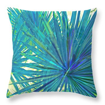 Abstract Palm 2 Throw Pillow by Jane Schnetlage