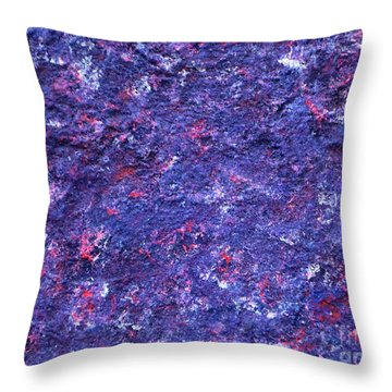 Abstract Pannel Purpil  Throw Pillow by P Dwain Morris