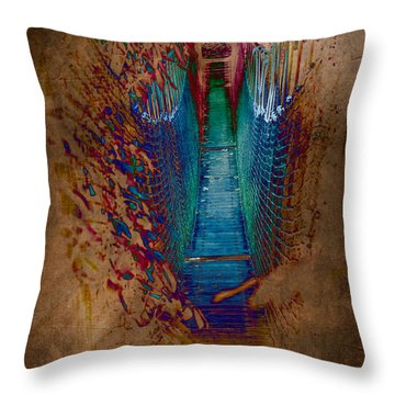 Abstract Path Throw Pillow by Loriental Photography