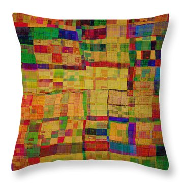 Abstract Pattern 2 Throw Pillow by Klara Acel