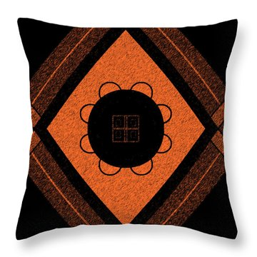 Printed Brown Throw Pillow