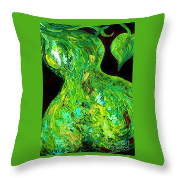 Abstract Pear Throw Pillow by Eloise Schneider