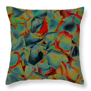 Throw Pillow featuring the photograph Abstract Rose Petals by Mae Wertz