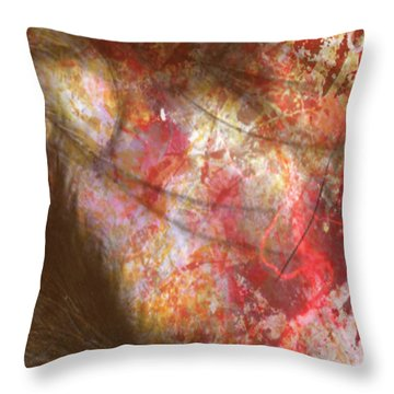 Abstract Pillow Throw Pillow by Kim Prowse