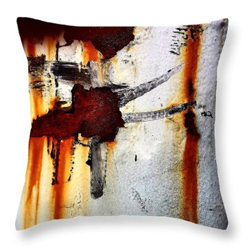 Abstract Post Throw Pillow