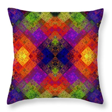 Abstract - Rainbow Connection - Panel - Panorama - Horizontal Throw Pillow by Andee Design