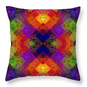 Abstract - Rainbow Connection - Panel - Panorama - Vertical Throw Pillow by Andee Design