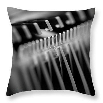 Throw Pillow featuring the digital art Abstract Razor by Mike Taylor