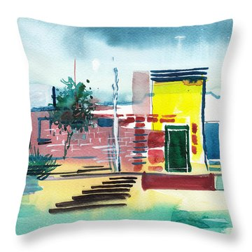 Abstract Reality Mix 1 Throw Pillow by Anil Nene