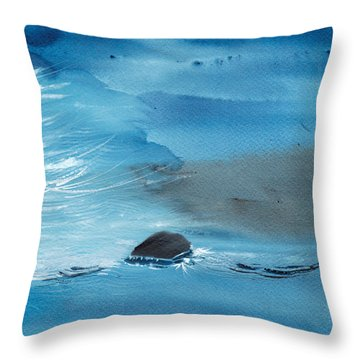 Abstract Reality Mix 2 Throw Pillow by Anil Nene