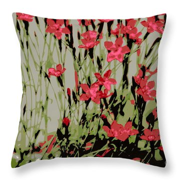 Throw Pillow featuring the photograph Abstract Red Flowers by Kenny Glotfelty