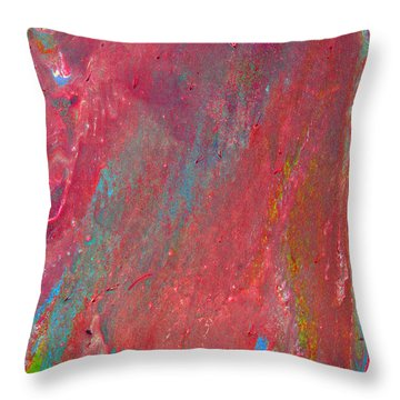 Abstract Red Rain Throw Pillow