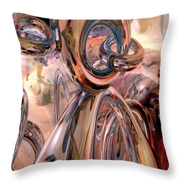 Abstract Reflecting Rings Throw Pillow