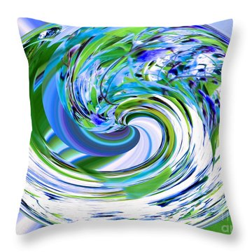 Abstract Reflections Digital Art #3 Throw Pillow