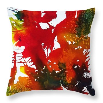 Abstract - Riot Of Fall Color II - Autumn Throw Pillow