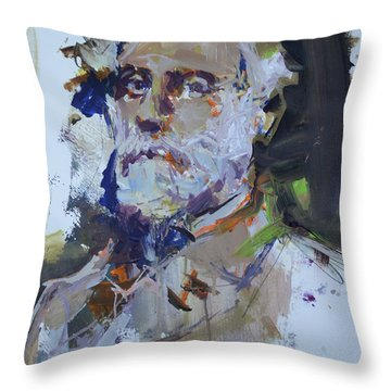 Abstract Robert E Lee Painting Throw Pillow