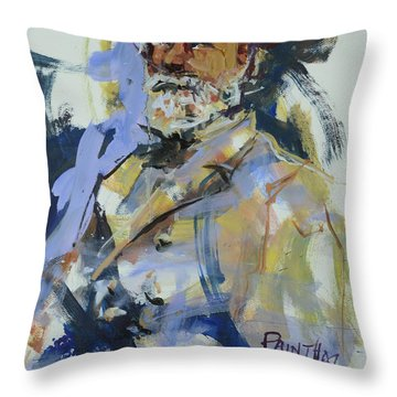 Abstract Robert E Lee Throw Pillow