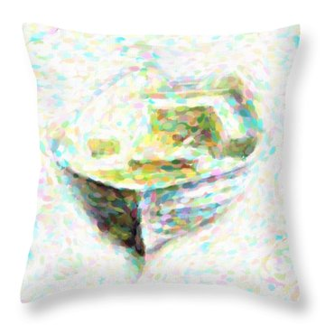 Abstract Rowboat Throw Pillow
