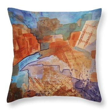 Abstract Ruins Throw Pillow