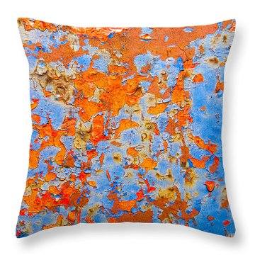 Abstract - Rust And Metal Series Throw Pillow by Mark Weaver