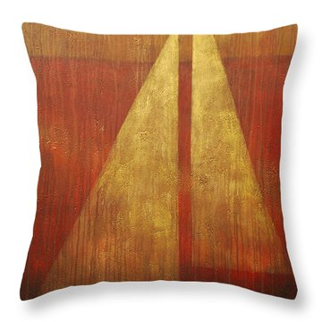 Abstract Sail Throw Pillow