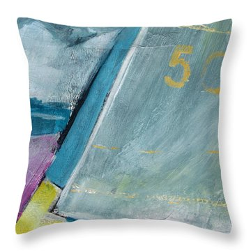 abstract sail with Number Fifty Throw Pillow by Betty Pieper