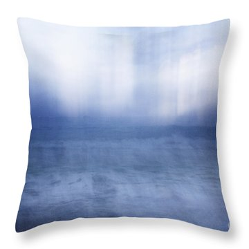 Abstract Seascape Throw Pillow