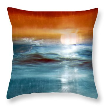 Abstract Seascape Throw Pillow by Natalie Kinnear