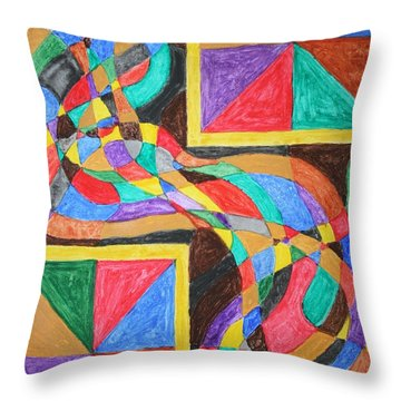 Throw Pillow featuring the painting Alien By Windows by Stormm Bradshaw
