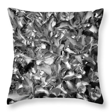 Abstract Sedum Throw Pillow by Mary Zeman